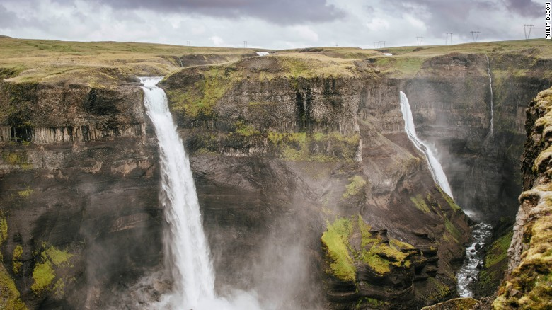 Iceland is home to more glaciers, geysers and fresh water than countries 10 times its size. Haifoss waterfall is near the Hekla volcano in southern Iceland.