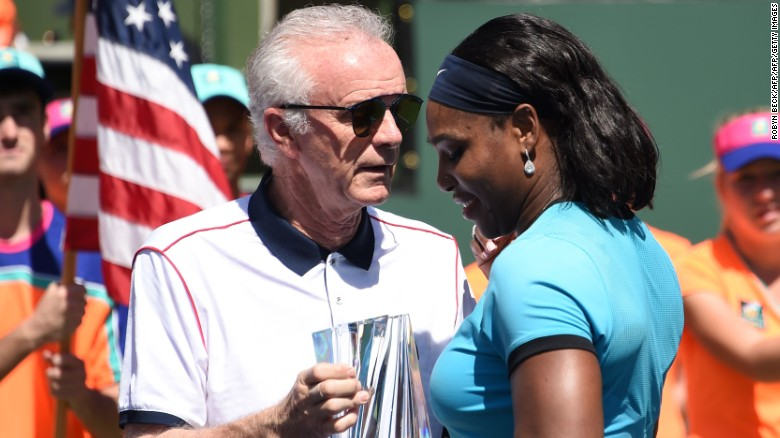 "Raymond Moore, Indian Wells tournament director, caused controversy Sunday by saying female tennis players ""ride on the coattails"" of their male counterparts. ""If I was a lady player, I'd go down every night on my knees and thank God that Roger Federer and Rafa Nadal were born,"" he said."