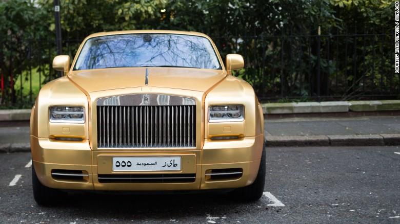 Among the flashy fleet is this Rolls-Royce Phantom Coupe, worth around £350,000 ($506,000).