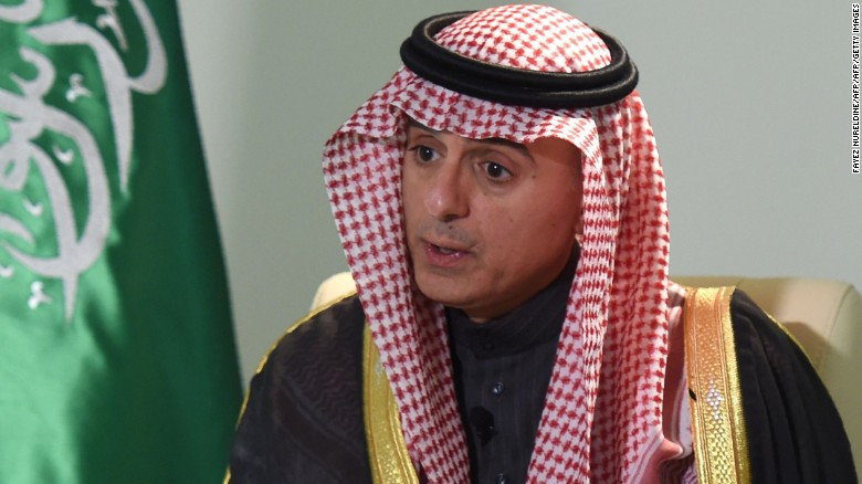 Saudi Minister of Foreign Affairs, Adel al-Jubeir, gives an interview to AFP at his ministry in the capital Riyadh on February 18, 2016. Saudi Arabia's military intervention in Yemen will continue until the country's legitimate government is fully restored to power, the Saudi foreign minister said. / AFP / FAYEZ NURELDINE        (Photo credit should read FAYEZ NURELDINE/AFP/Getty Images)
