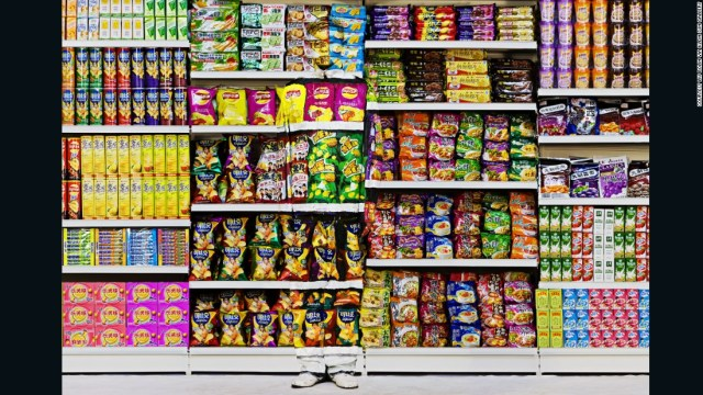 Liu Bolin is a master of disguise. The Chinese artist, known for painting himself onto different landscapes, often weaves social and political issues into his work.  Two pieces from his 'Hiding in the City' series will be featured in a new exhibition titled 'We Are What We Eat' which critiques food waste and consumption.