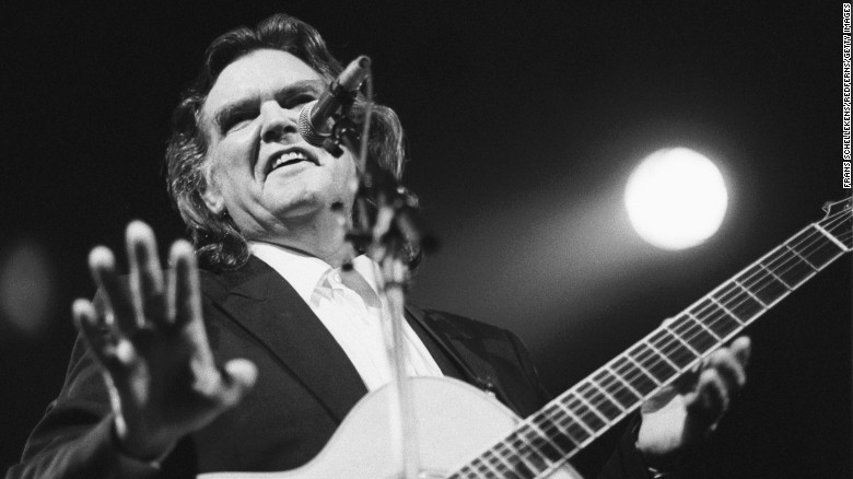 Guy Clark performs at the Paradiso in 1992 in Amsterdam,