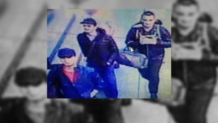 Police showed residents of Fatih this image of three suspects.