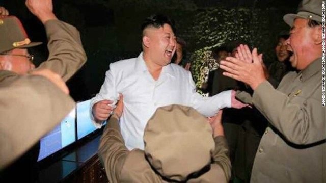 "Kim declared the missile test the ""greatest success and victory."""