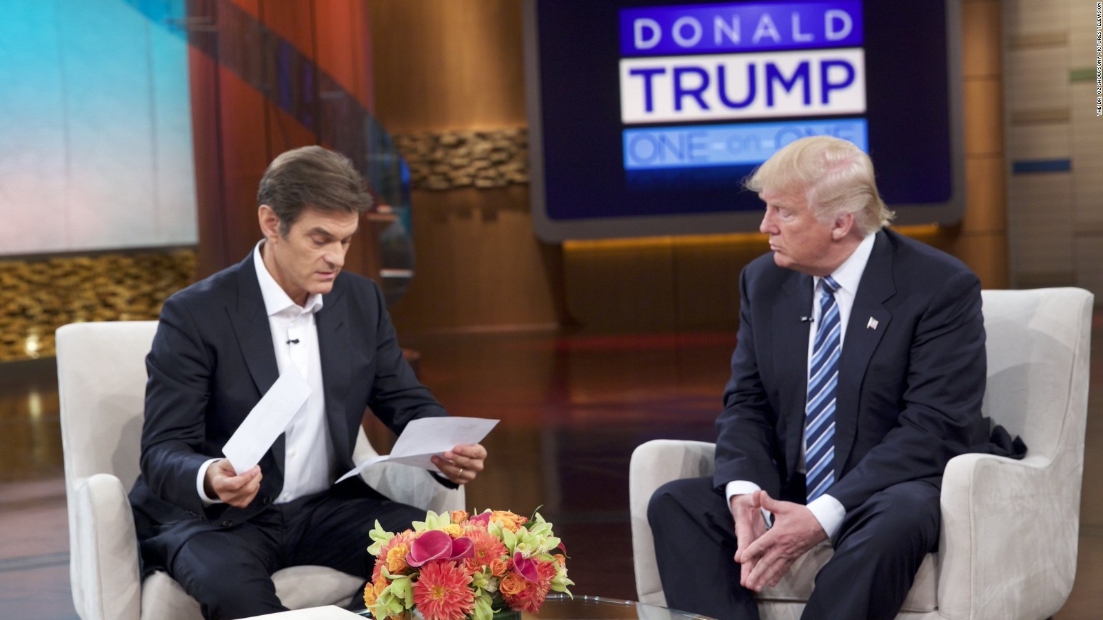 Image result for Images of Dr. Oz and Trump