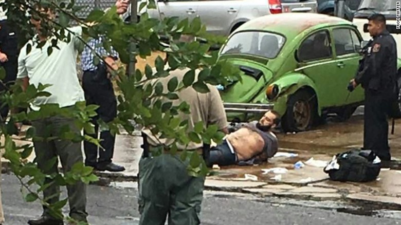 Authorities say Rahami was wounded in a shootout with police.