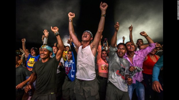 "FARC rebels dance at an encampment in Llanos del Yari, Colombia, during a cultural event on Wednesday, September 21. The group's leader <a href=""http://www.cnn.com/2016/08/27/americas/colombia-peace-plan-reaction/"" target=""_blank"">signed a peace deal</a> with Colombian officials last month to end a 52-year-old conflict. Colombian citizens still have to approve the deal in a referendum."