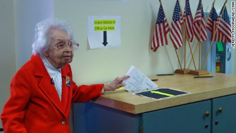 Image result for image of ruline steininger casting her early vote