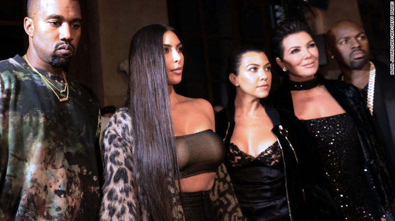 Kanye West attended with Kardashian West and family last week.