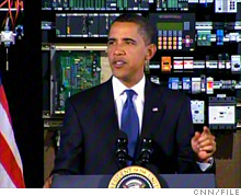 President Obama speaks in Troy, N.Y., about his high-tech education investment plan.
