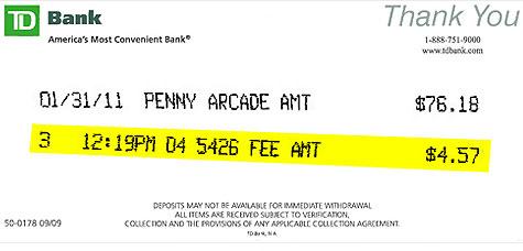TD Bank kills freebie  Penny Arcade for noncustomers  Feb 4 2011