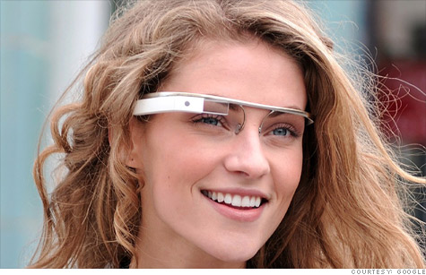 Google is developing a wearable smartphone screen as part of its 'Project Glass' initiative.