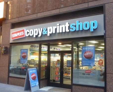 Staples Copy & Print Shop