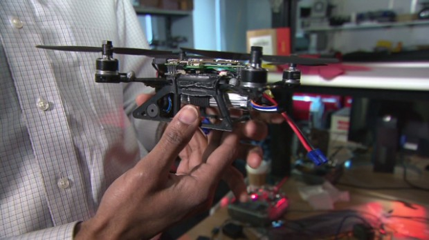 Mini drones that fly in fleets
