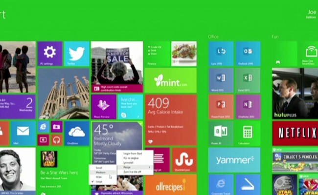 See Microsoft S Mouse Friendly Windows 8 1 Video