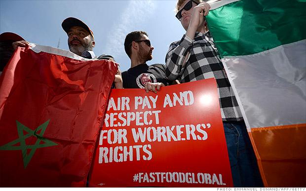 fast food worker strike 051514