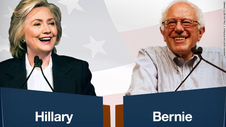 hillary vs bernie their