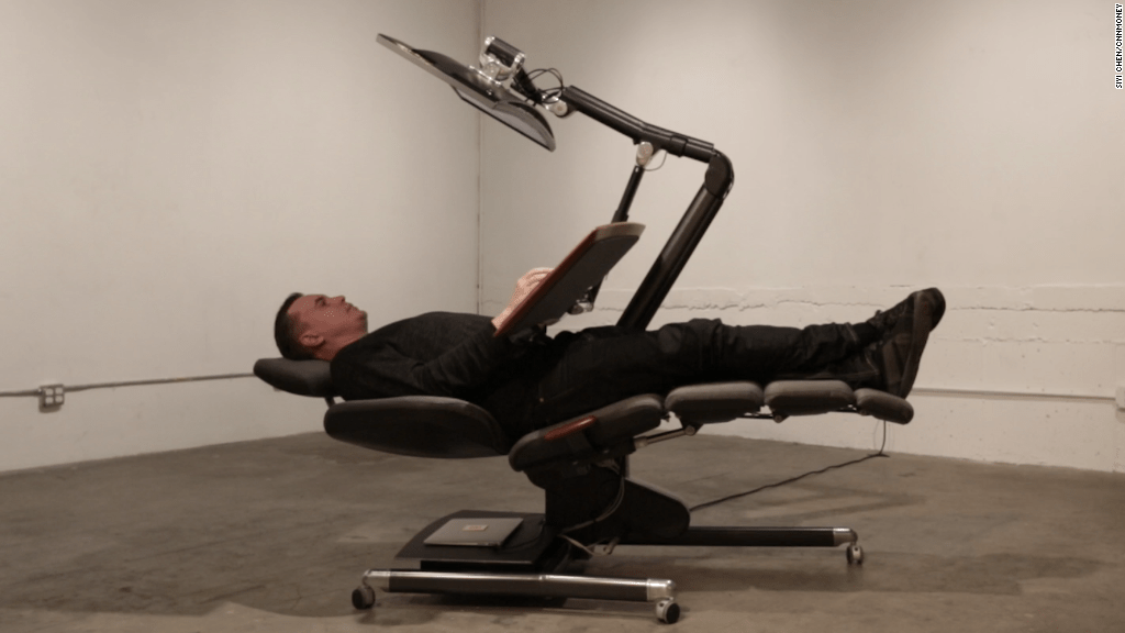 Lie down at work in this crazy new chair