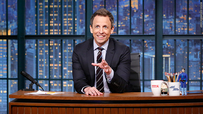 Image result for seth meyers late night