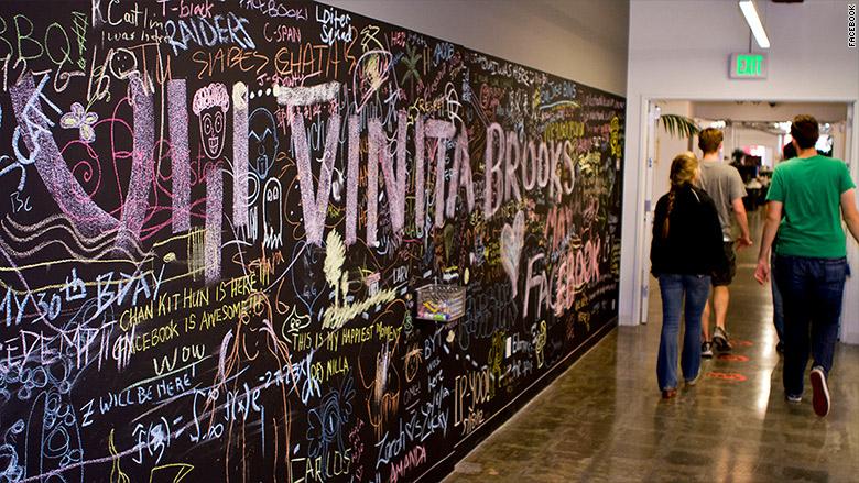 facebook chalk wall