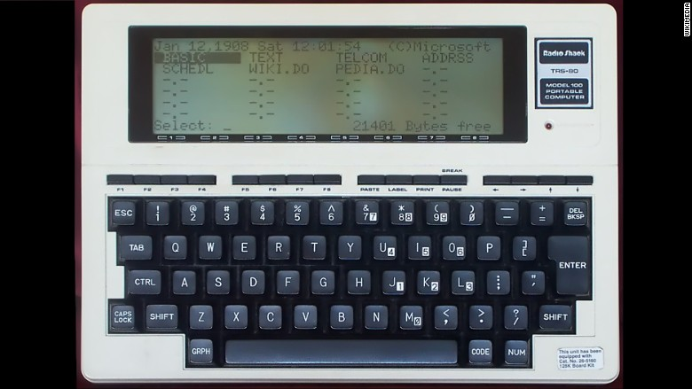 Tandy TRS80 Model 100  The totally righteous technology