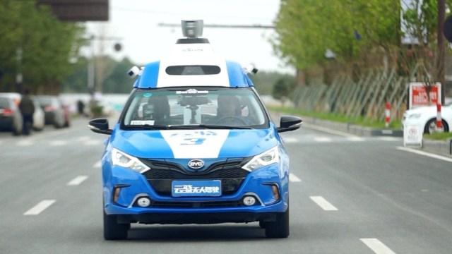 Riding shotgun in Baidu's driverless car