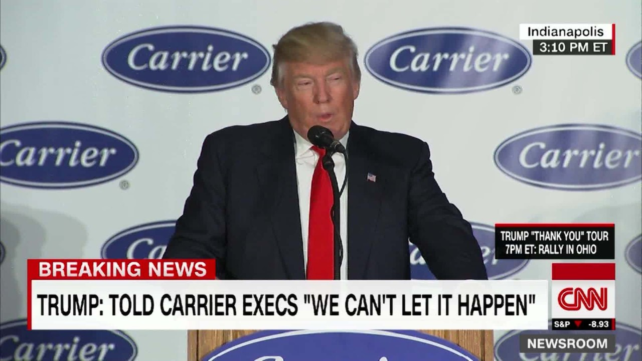 Image result for donald j trump speech at carrier