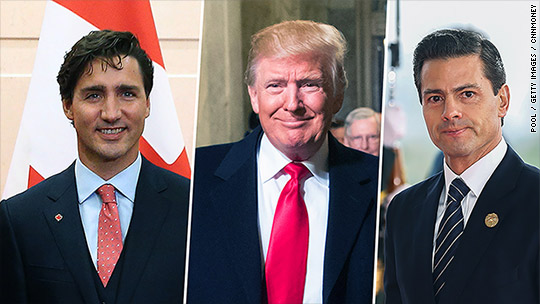Image result for trudeau trump pena