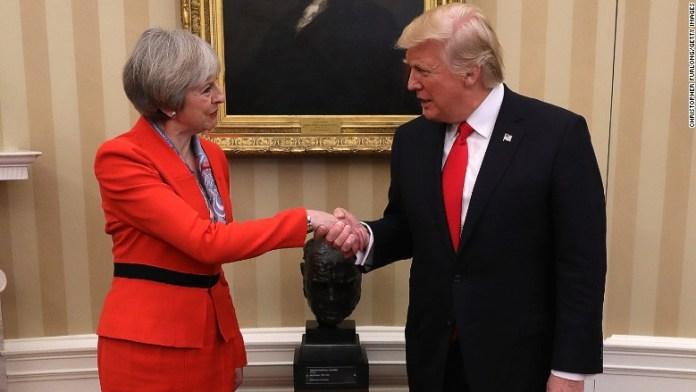 Trump Theresa May UK