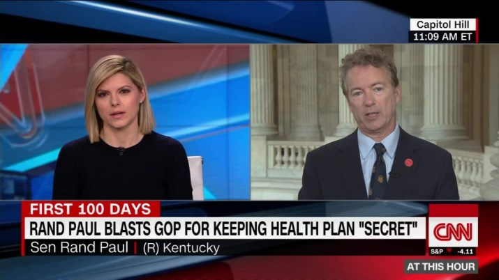 Rand Paul blasts GOP for keeping health plan 'secret'