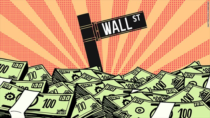 wall street sign greed