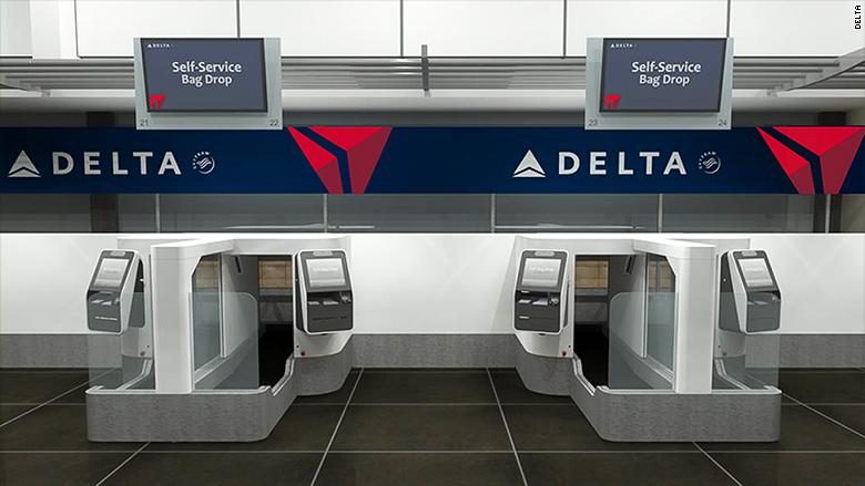Delta kiosk checks your face before you check your bag