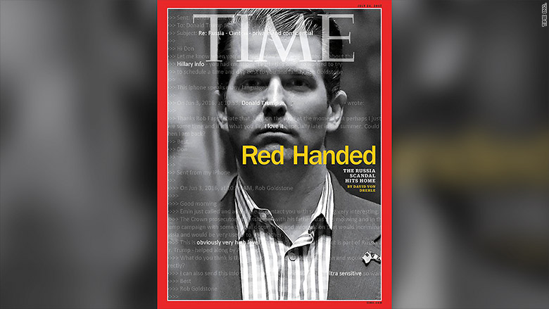 Image result for images of Don Jr. on Time cover