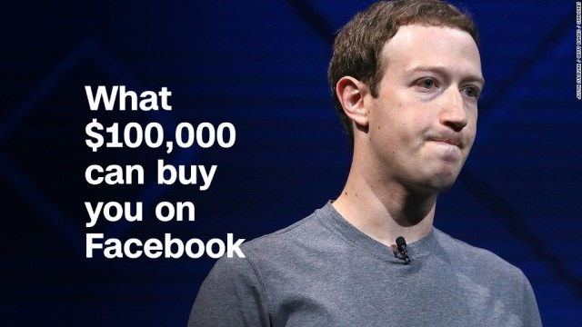 What $100,000 can buy you on Facebook