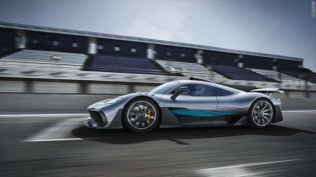 mercedes amg project one side
