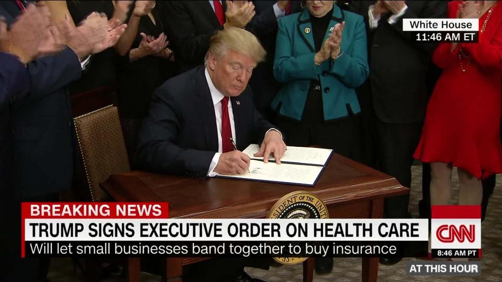 Trump administration unveils short-term health plans as ...