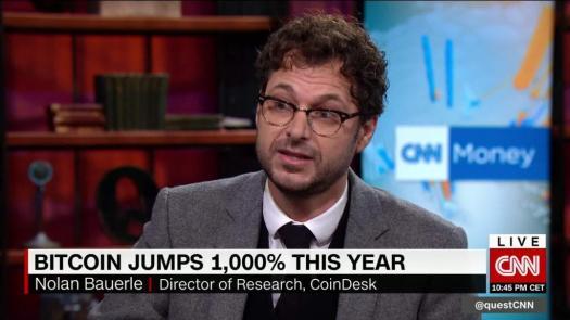 Bitcoin jumps 1000% this year