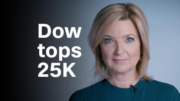 Here's how the Dow topped 25,000