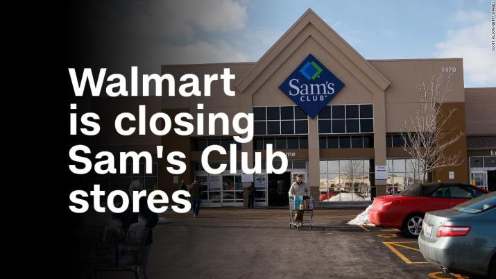 Walmart is closing Sam's Club stores