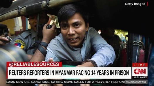 Reuters reporters facing prison in Myanmar