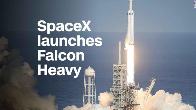 Watch the launch of SpaceX's Falcon Heavy