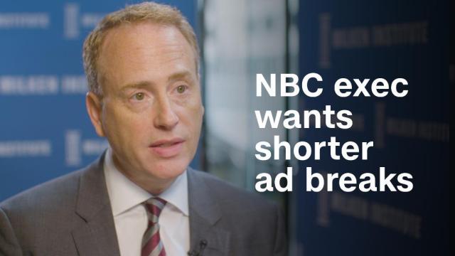 NBC's Bob Greenblatt wants to get rid of the five-minute ad break
