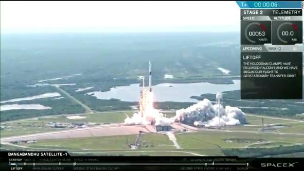 SpaceX launches rocket capable of carrying humans