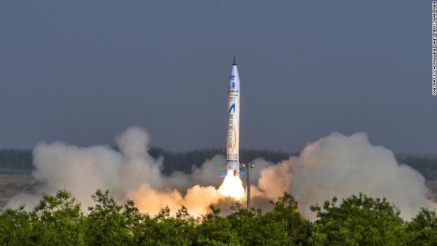onespace china rocket launch closeup