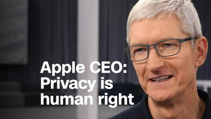 Apple CEO: Privacy is fundamental human right