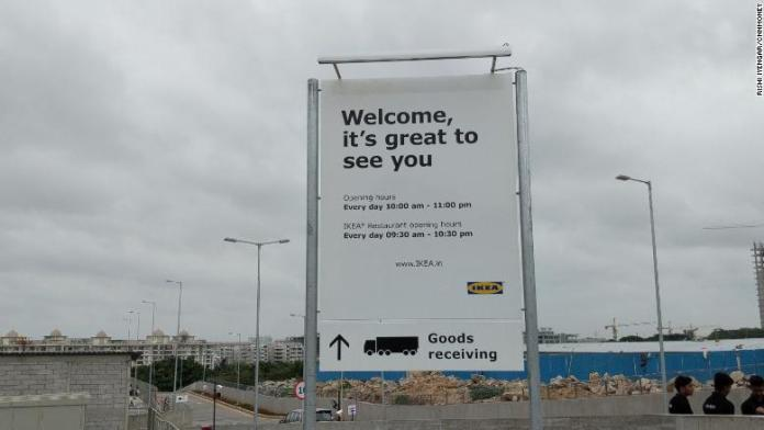ikea india welcome sign