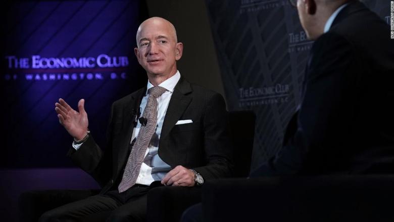 Jeff Bezos defends the press against Trump
