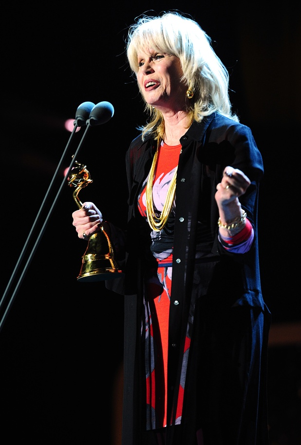 Joanna Lumley with the Special Recognition award during the 2013 National Television Awards at the O2 Arena, London.