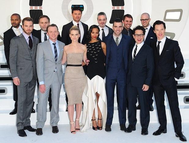 Star Trek Into Darkness cast in London