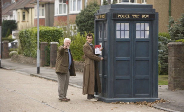 Bernard Cribbins alongside David Tennant in 'Doctor Who'